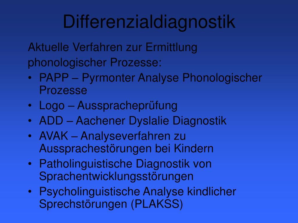 Differenzialdiagnostik