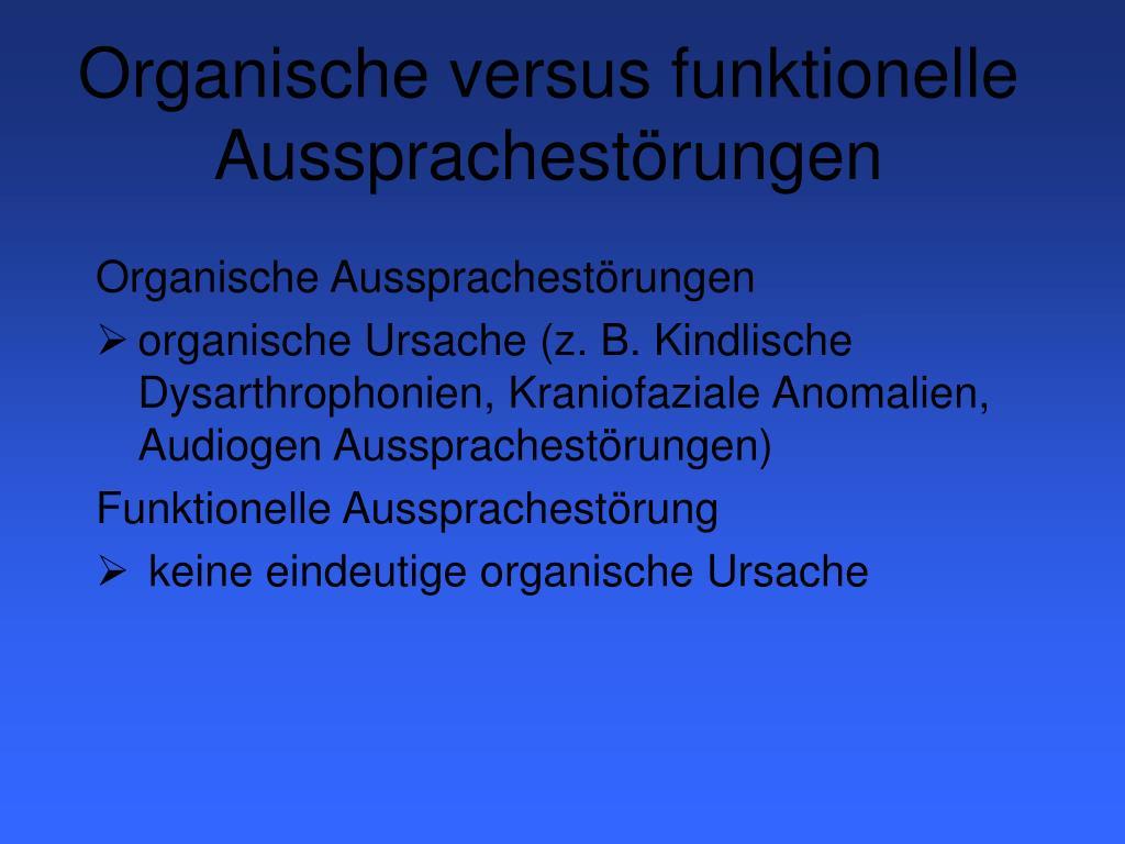 Organische versus funktionelle Aussprachestörungen