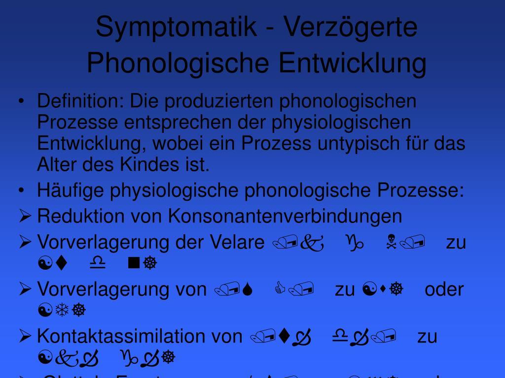 Symptomatik -