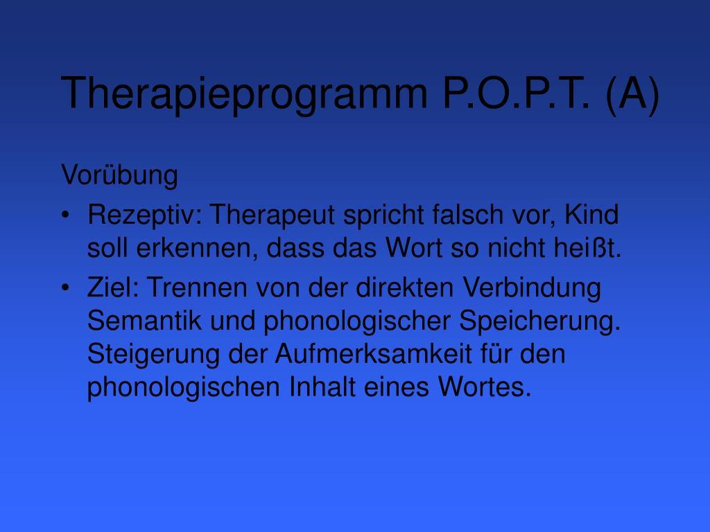 Therapieprogramm P.O.P.T. (A)