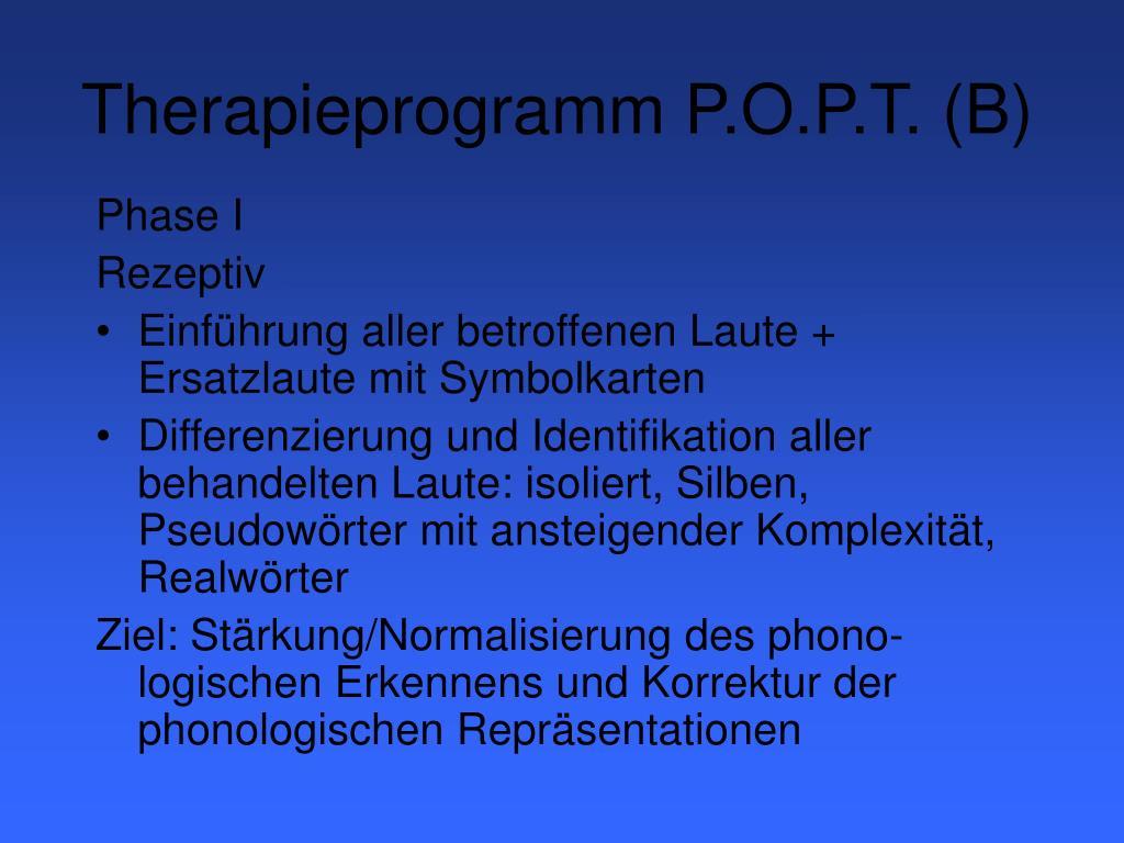 Therapieprogramm P.O.P.T. (B)