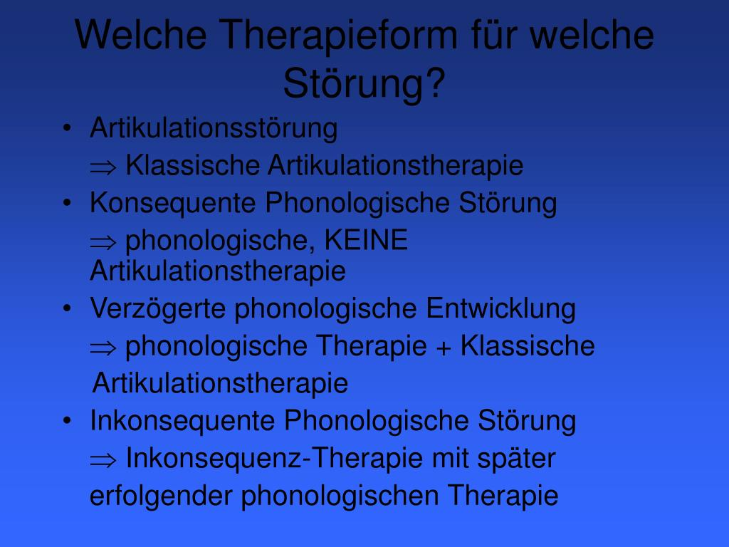 Welche Therapieform