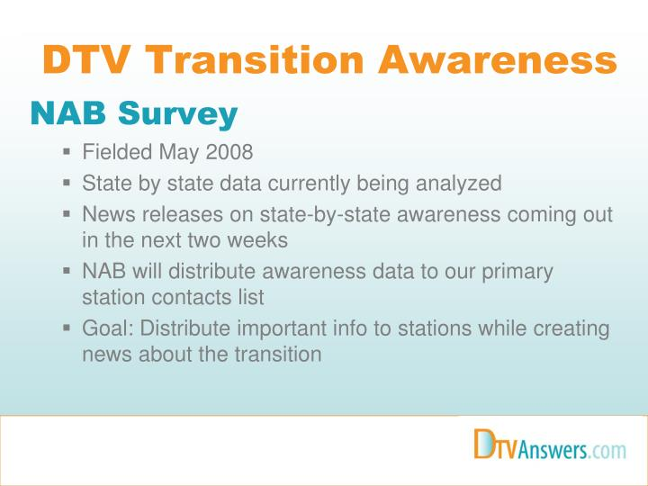 Dtv transition awareness