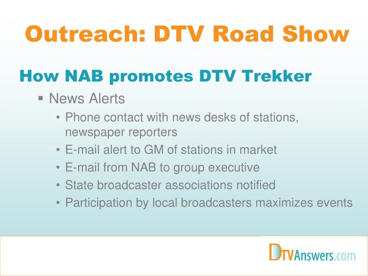 Outreach: DTV Road Show