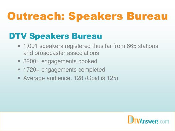 Outreach: Speakers Bureau