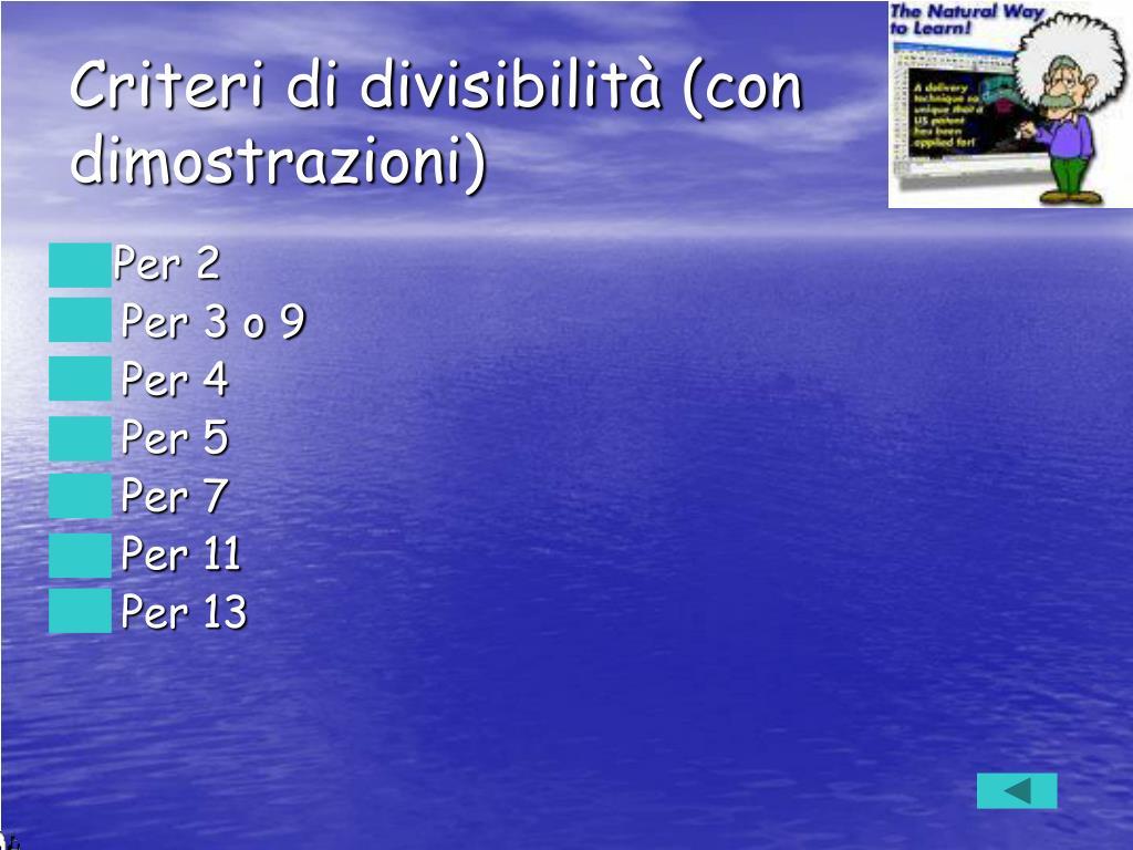 Criteri di divisibilità (con dimostrazioni)