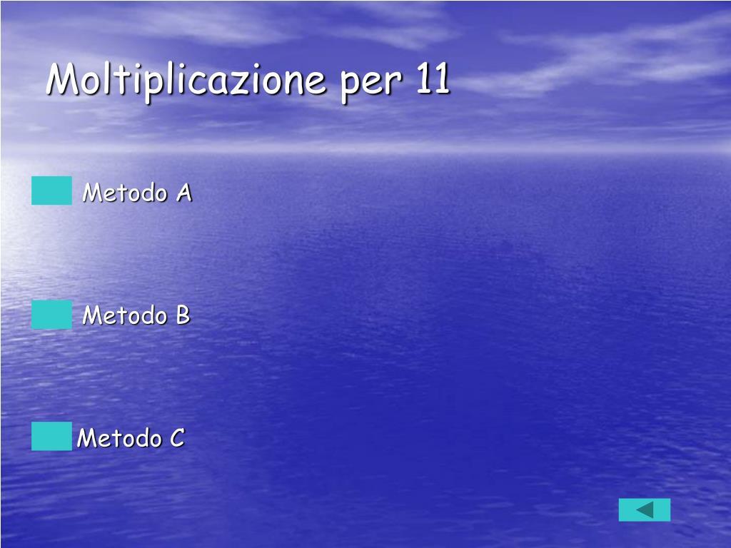 Moltiplicazione per 11