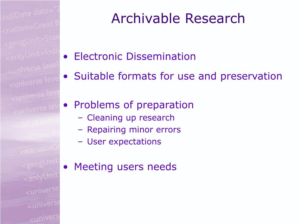 Archivable Research