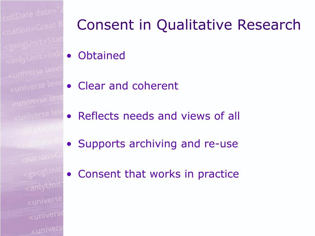 Consent in Qualitative Research