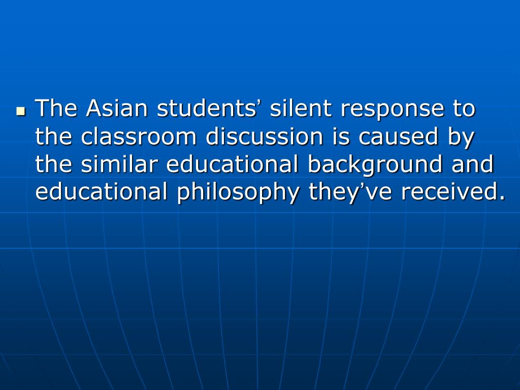 The Asian students