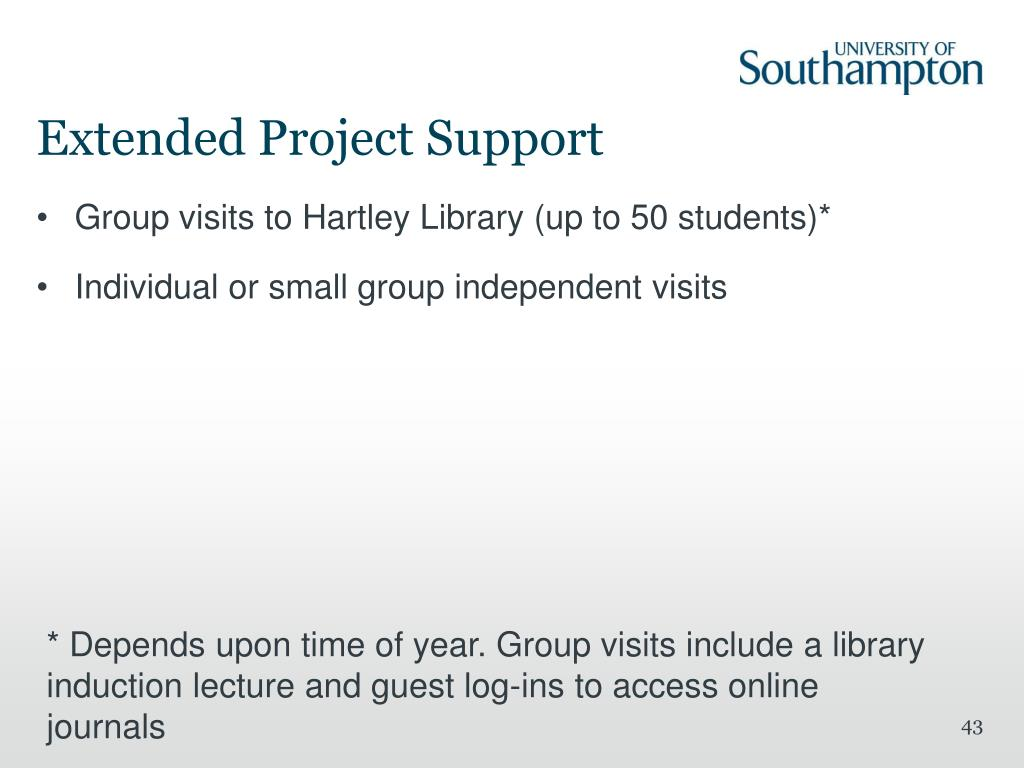 Extended Project Support