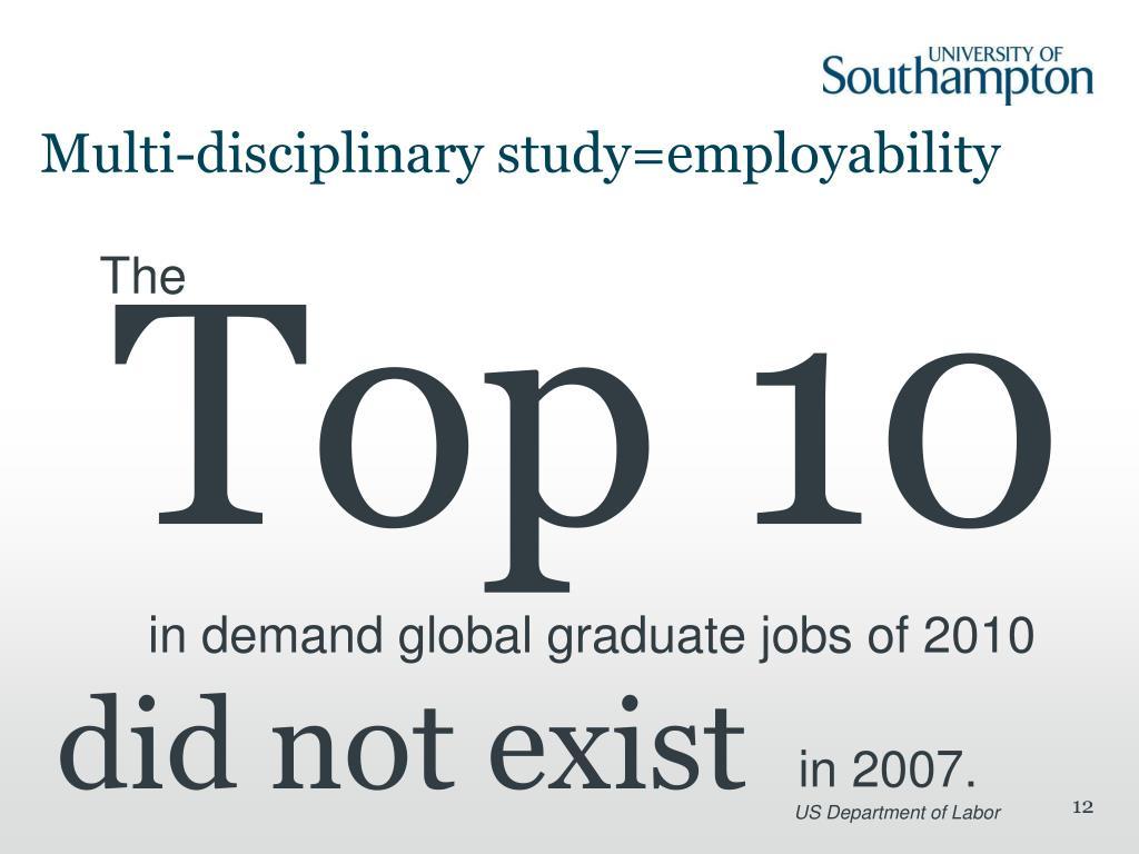 Multi-disciplinary study=employability