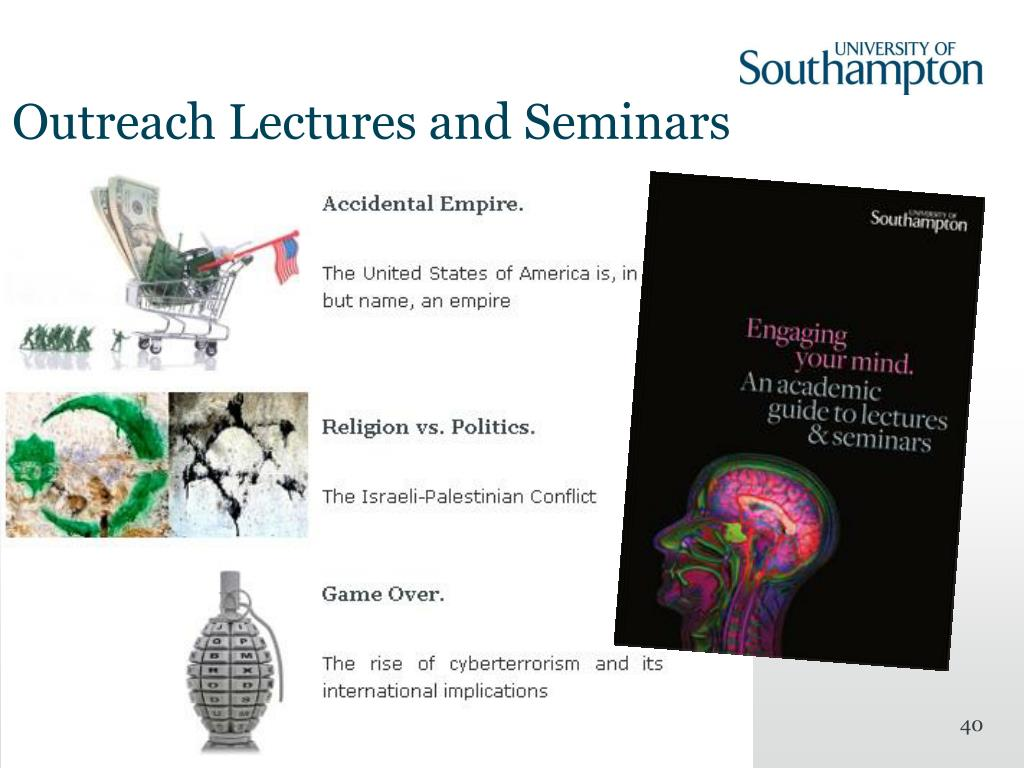 Outreach Lectures and Seminars