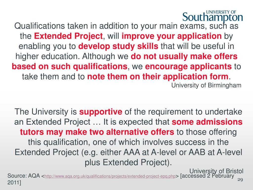 Qualifications taken in addition to your main exams, such as the