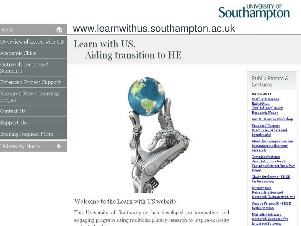 www.learnwithus.southampton.ac.uk