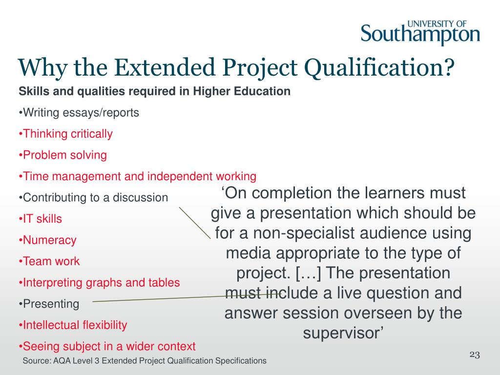 Why the Extended Project Qualification?