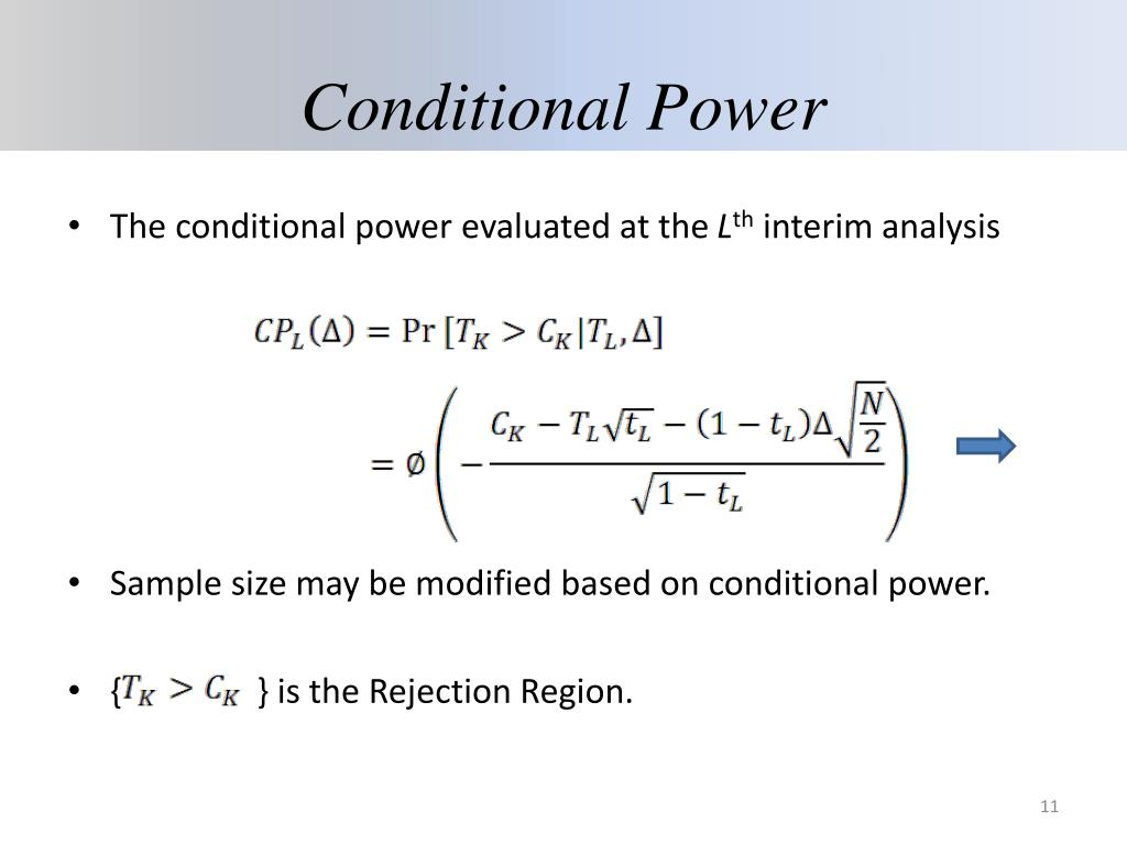 Conditional Power