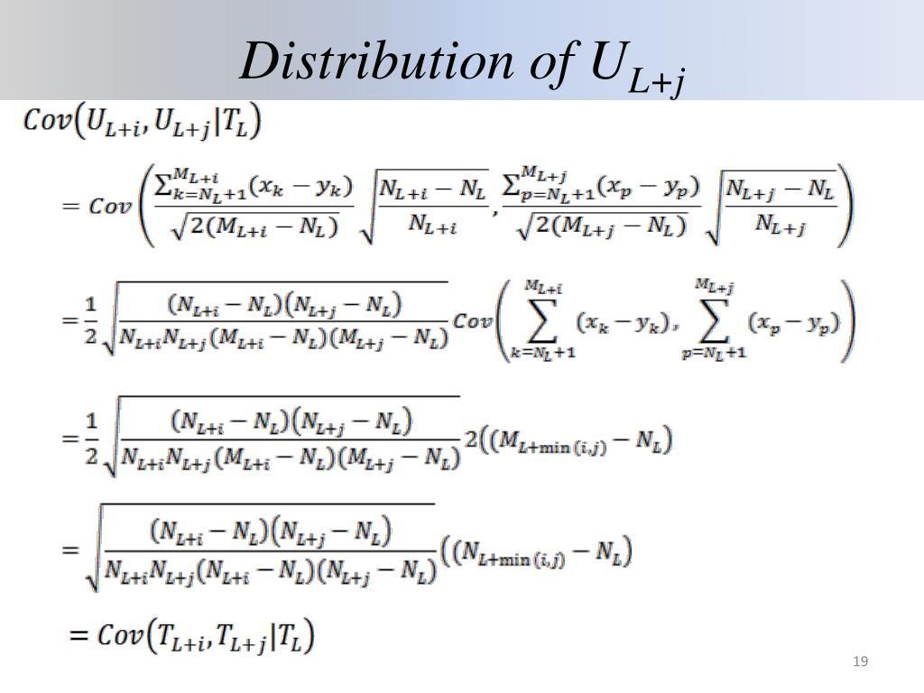 Distribution of U