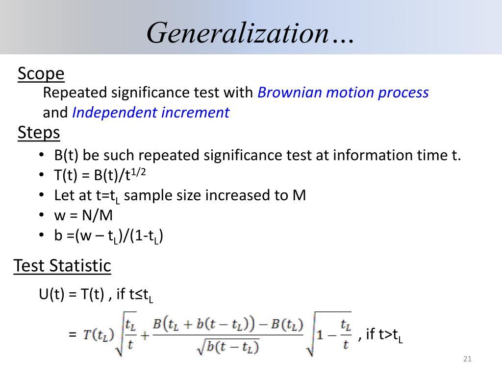 Generalization…