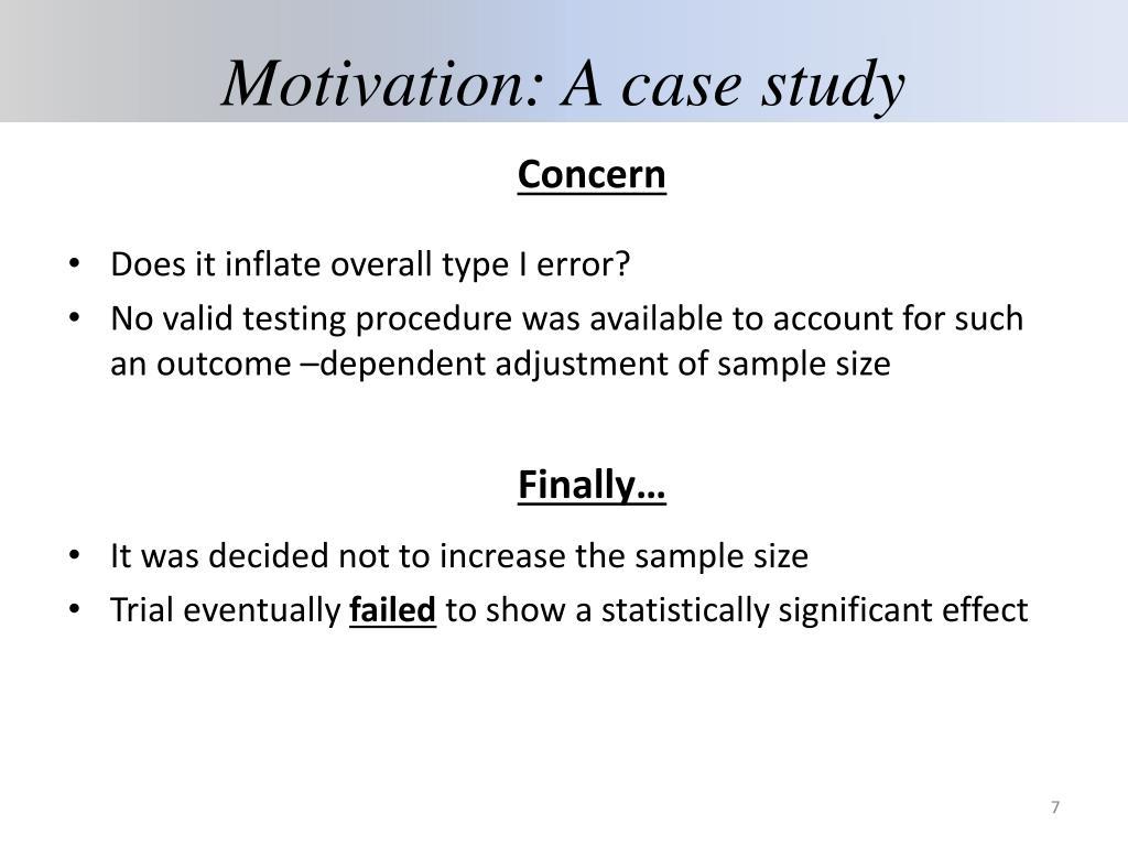 Motivation: A case study