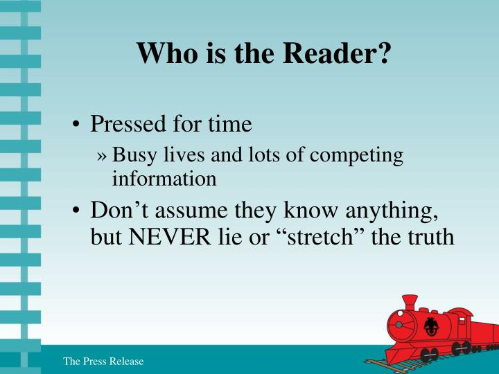Who is the Reader?
