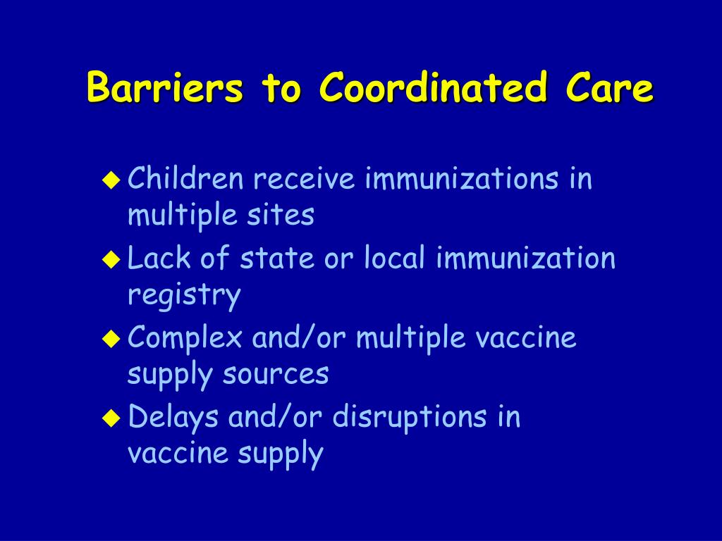 Barriers to Coordinated Care