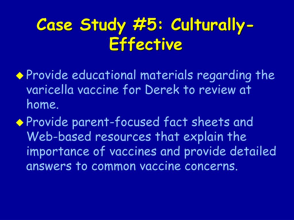 Case Study #5: Culturally-Effective