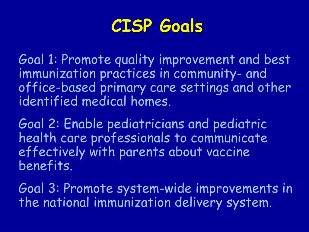 CISP Goals