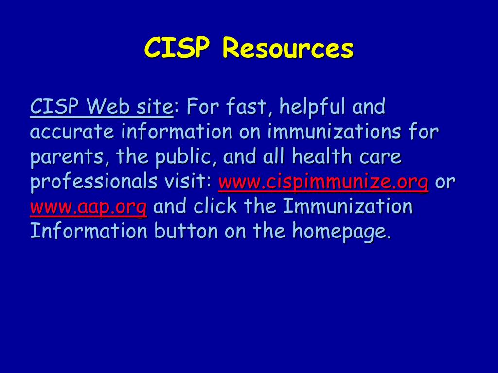 CISP Resources