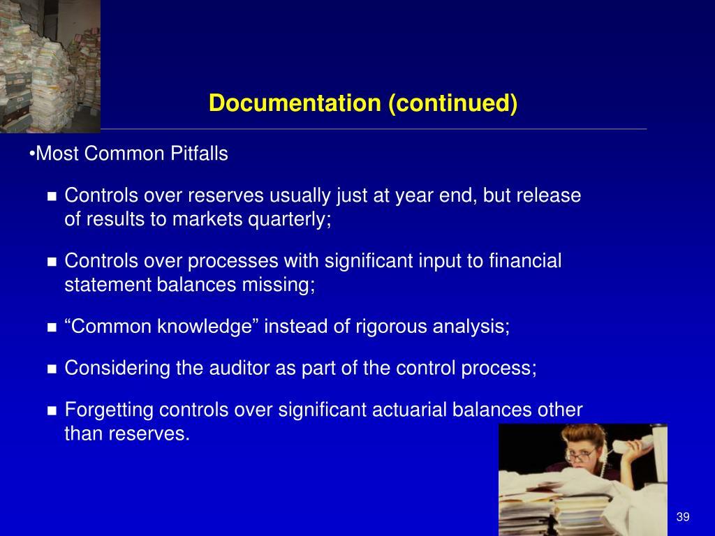 Documentation (continued)