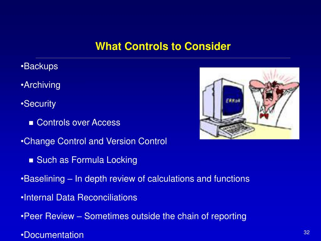 What Controls to Consider