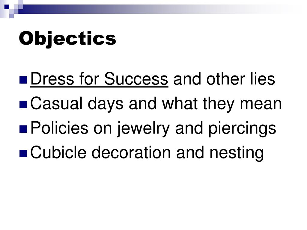 Objectics