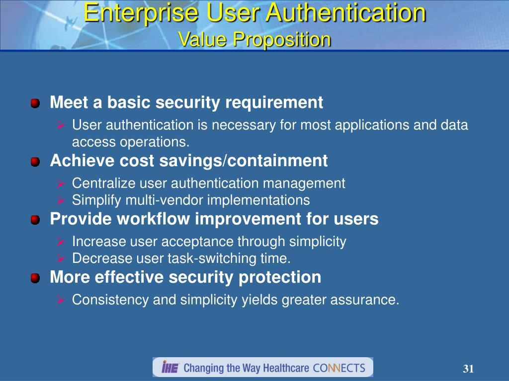 Enterprise User Authentication