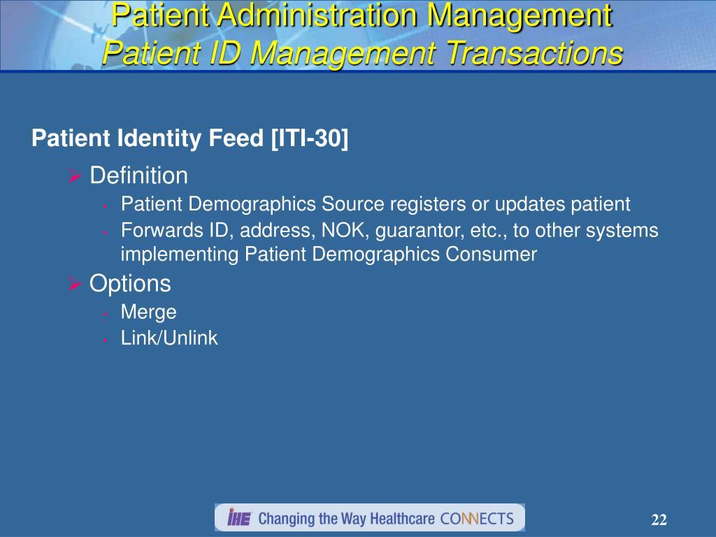 Patient Administration Management