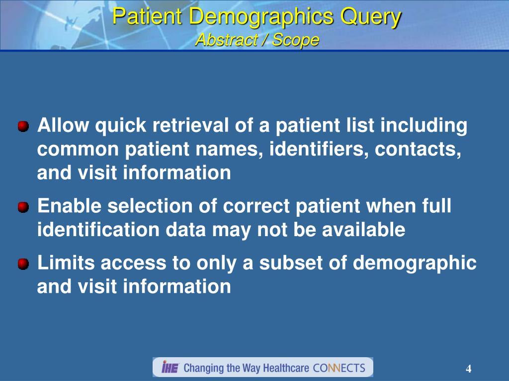 Patient Demographics Query