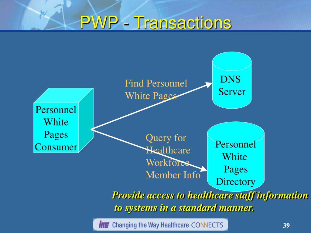 PWP - Transactions