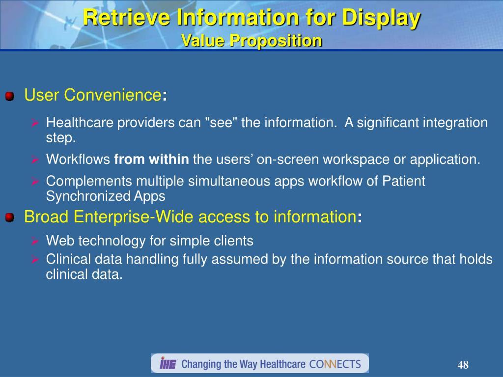 Retrieve Information for Display