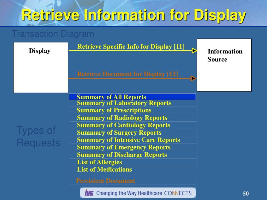 Retrieve Specific Info for Display [11]