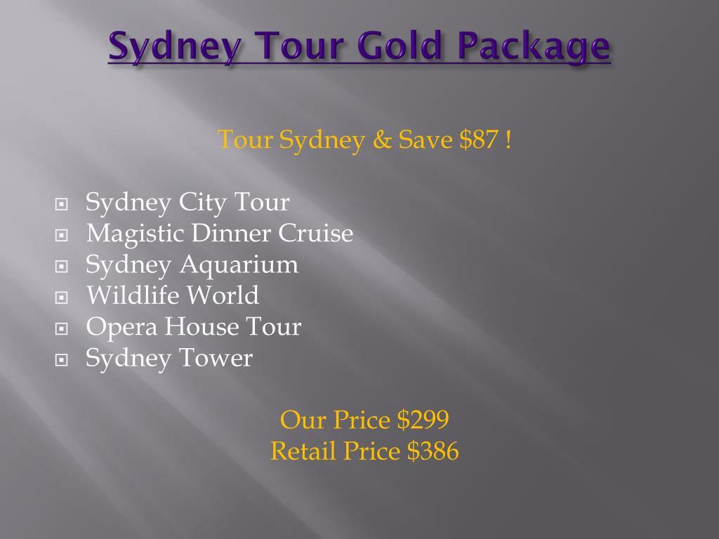 Sydney Tour Gold Package