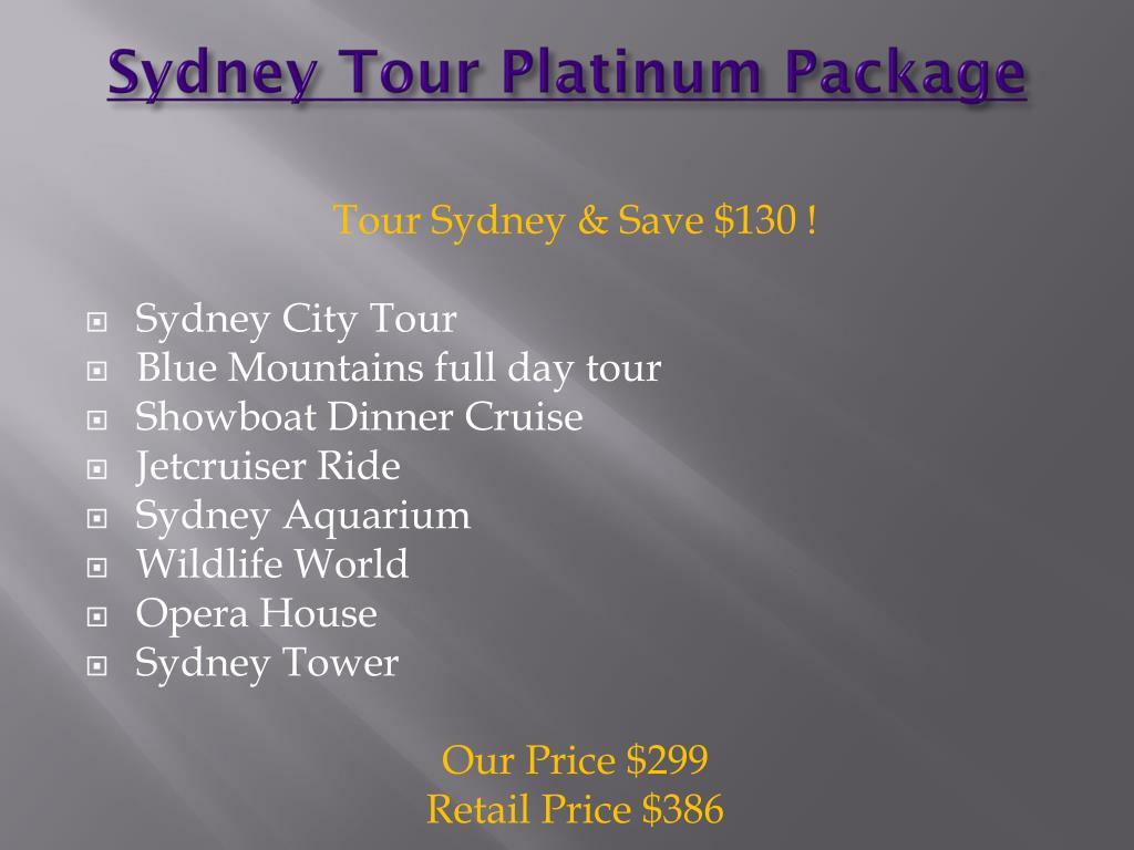 Sydney Tour Platinum Package
