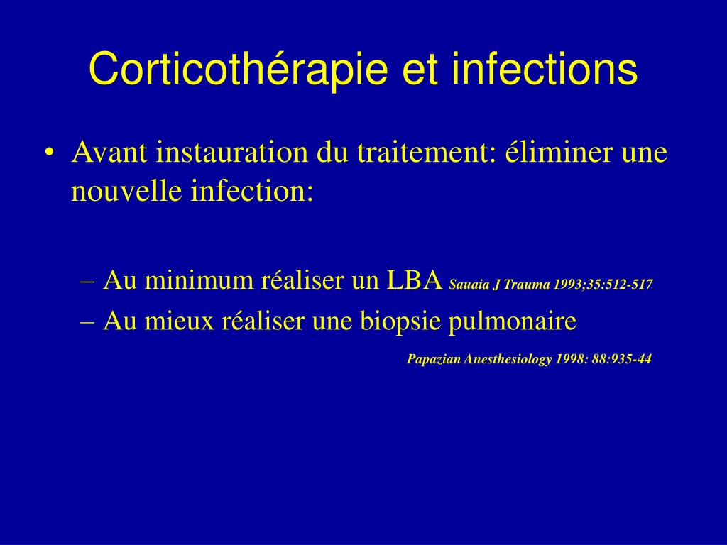 Corticothérapie et infections