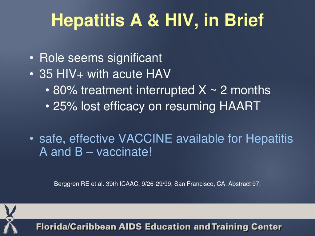 Hepatitis A & HIV, in Brief
