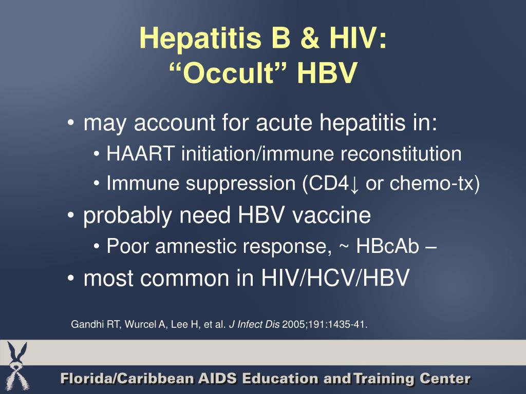 Hepatitis B & HIV: