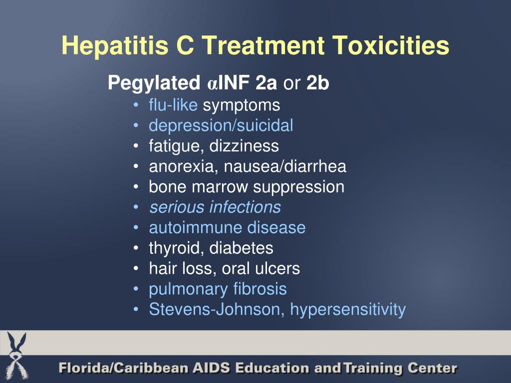 Hepatitis C Treatment Toxicities