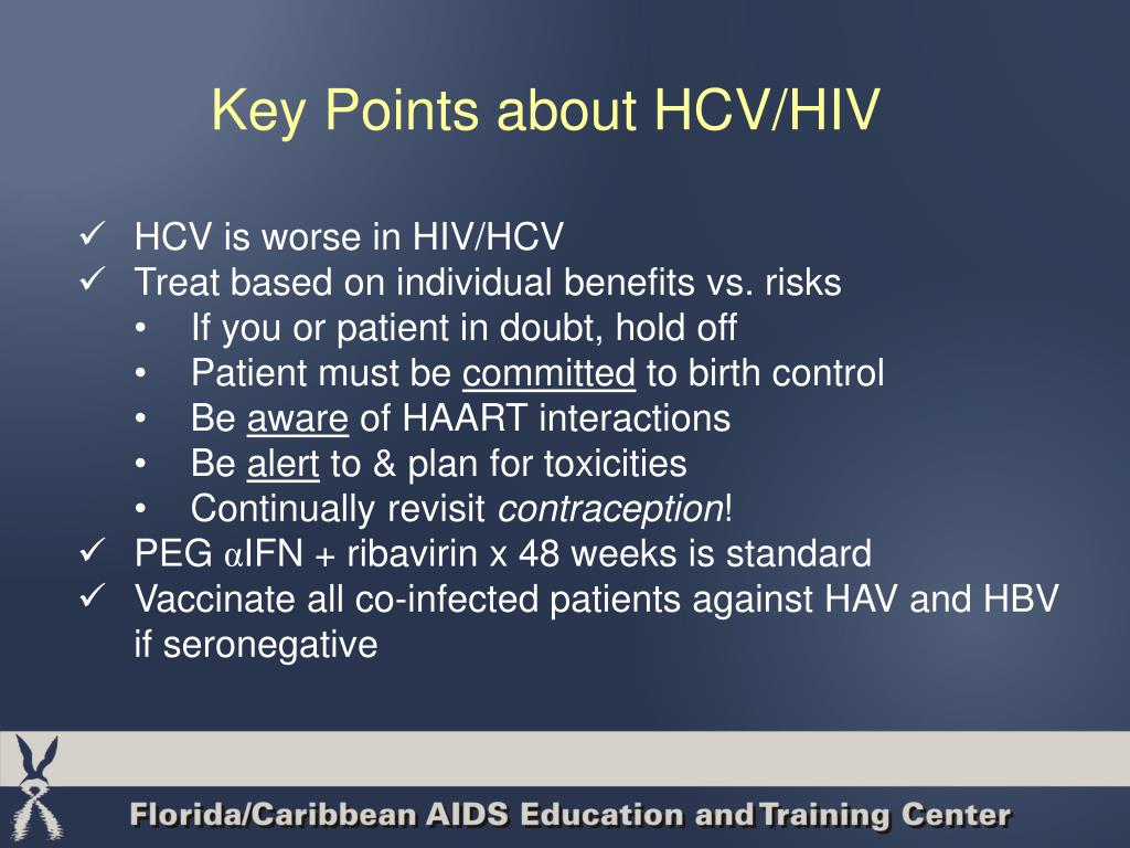 Key Points about HCV/HIV