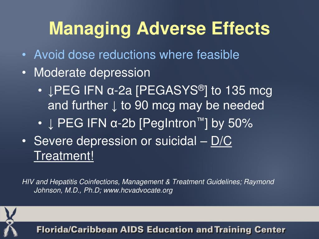 Managing Adverse Effects