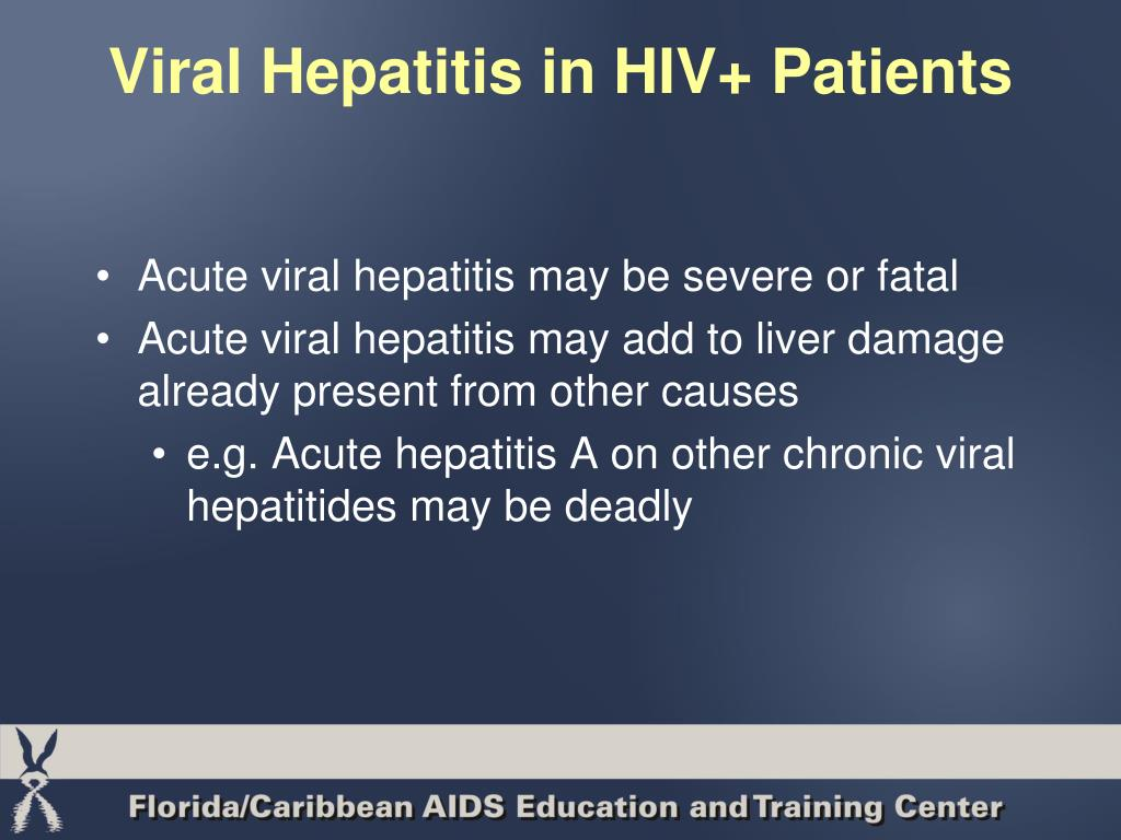 Viral Hepatitis in HIV+ Patients