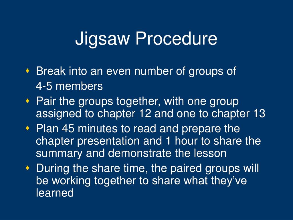 Jigsaw Procedure