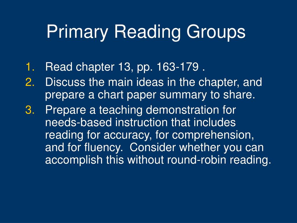 Primary Reading Groups