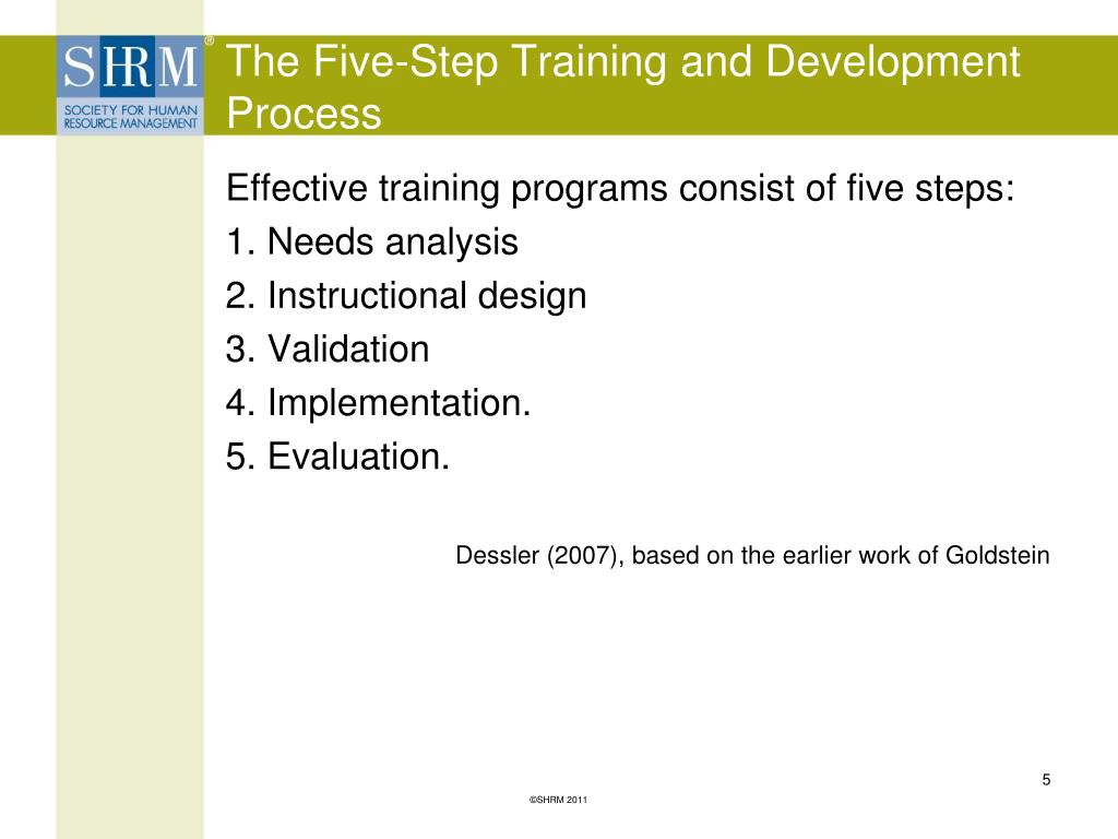The Five-Step Training and Development Process